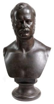buste d'un homme aux favoris by antoine-samuel adam-salomon