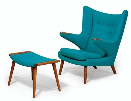 A U0027papa Bearu0027 Chair And Ottoman By Hans J. Wegner