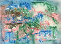 Landscape with Pink, Green and Blue, 1982
