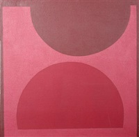 abstract pink and brown by thomas nathaniel davies