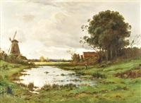 paisaje holandes by louis le poitevin