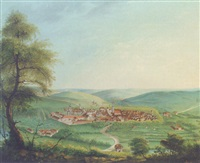 a panoramic view of an austrian town by melchior seltzam