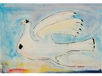 a dove in flight by sven berlin