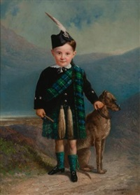 scottish lad and his dog by william raphael