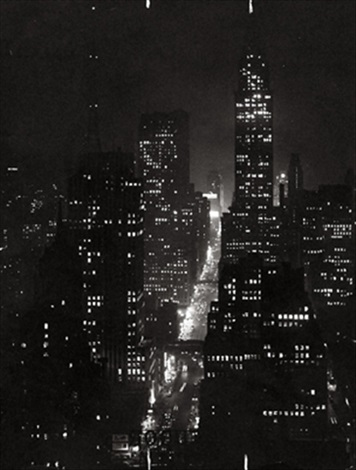 42nd street at night by erich hartmann