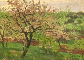 pommier en fleurs by paul emile colin