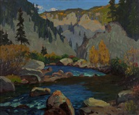 late afternoon, platte canyon, colorado by ferdinand kaufmann