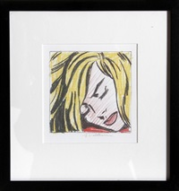 sleeping girl by roy lichtenstein