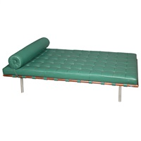 barcelona day bed, designed, of recent issue for knoll by ludwig mies van der rohe