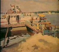 sur le quai by mikhail akinchine