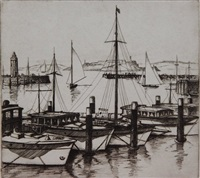 san francisco yacht harbor by gene kloss