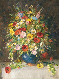 still life with flowers by ferenc gaal