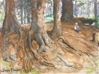 dziewczynka w lesie by adam bunsch