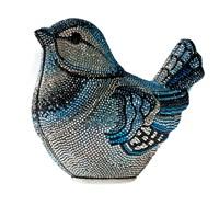 bolsa pássaro azul by judith leiber