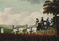 the royal yarmouth telegraph coach by john cordrey
