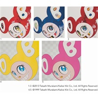 1. and then × 727 (vermillion: shu) 2. and then x 6 (marine blue: the superflat method) (+ 3 other works; 5 works) by takashi murakami