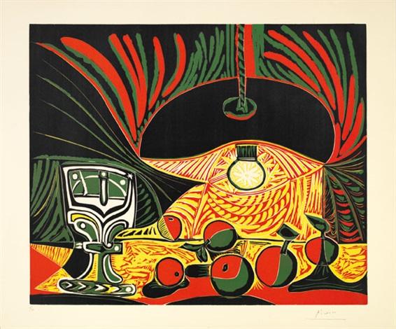 Nature morte au verre sous la lampe by Pablo Picasso on artnet