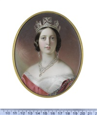 queen victoria (1819-1901), queen of the united kingdom of great britain and ireland (1837-1901), empress of india (1876-1901), wearing white... by john haslem