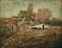 marvin's woods, spring (lyme, connecticut) by louis paul dessar