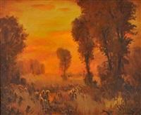 orange sunset by rod goebel