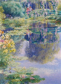 giverney in summer by louis fabien