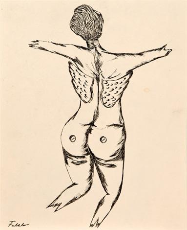 mujer de espaldas by roberto fabelo
