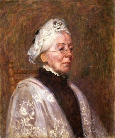 portrait of an old lady by jozef israëls