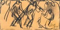 vijf episodes uit de kruiswegstatie (5 works) by charles eyck