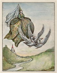 gray goose and gander (illustration for the random house book of mother goose) by arnold lobel