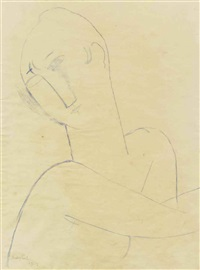 tête by amedeo modigliani