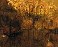 a venetian canal by gennaro favai