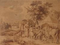 halte au campement by jean-baptiste (louis) le paon