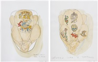 texan's ruin (+ chicken with 7 tattoos; 2 works) by wim delvoye