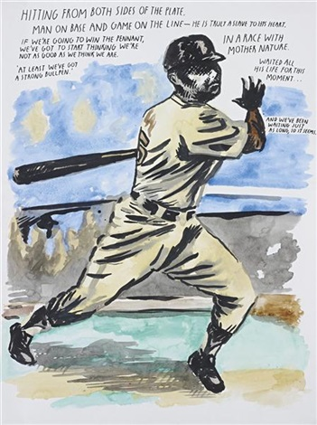 untitled hitting from both sides of the plate by raymond pettibon