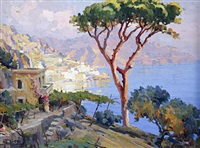 the amalfi coast by luca albino