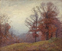 autumn trees by theodore clement steele