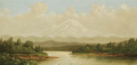 mount rainier by samuel colman