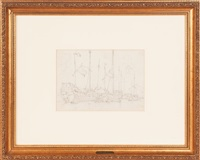 fujian seagoing junks at anchor by george chinnery
