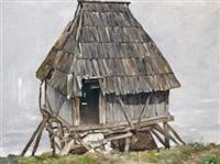 wassermühle, jugoslawien by leopold hauer