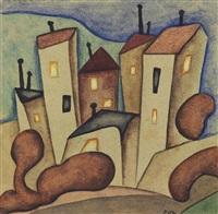 siete casas (la figurativa) by alejandro xul solar