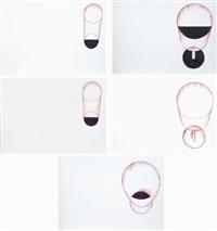 cinque pezzi rotti, dalla casa fibonacci (5 works) by mario merz