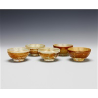 bowls (5 works) by rosanjin kitaoji