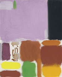 violet brown ochre lemon & black: october by patrick heron