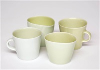 quartet with two cups (4 works) by gwyn hanssen pigott