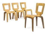 four dining chairs (collab w/donald lewis jordan) by herbert von thaden