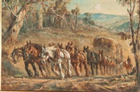 hauling the wool clip by william young