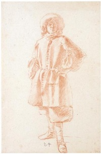 study of a standing youth by moses ter borch
