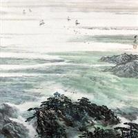 鄱阳湖春色 by liu chenqi