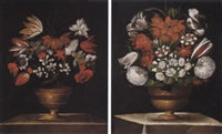 nature morte con vaso di fiori by auguste bouquet