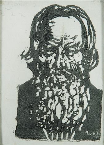 portrait présumé de léon tolstoï by boris mikhailovich kustodiev